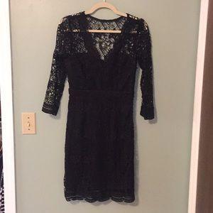 Lulus Scalloped Lace Dress